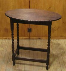 Oak Parlor Lamp Table