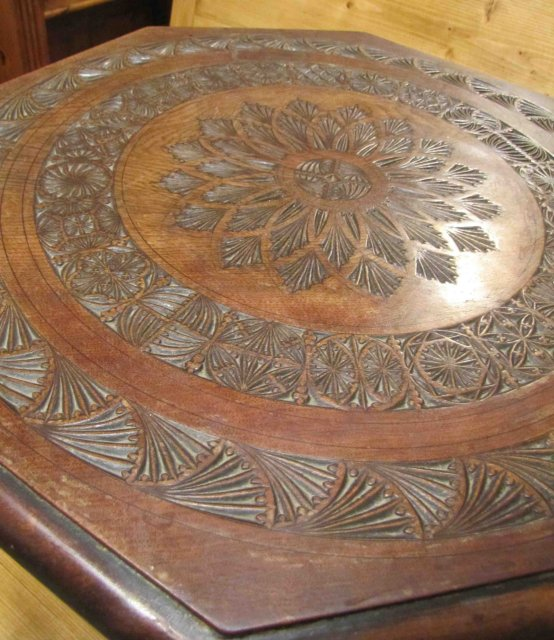 Carved Oak Parlor Table