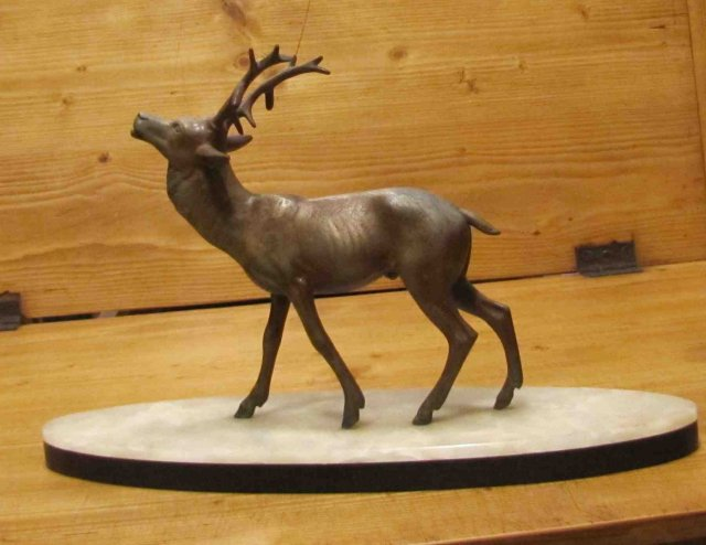 Antique Deer on Marble