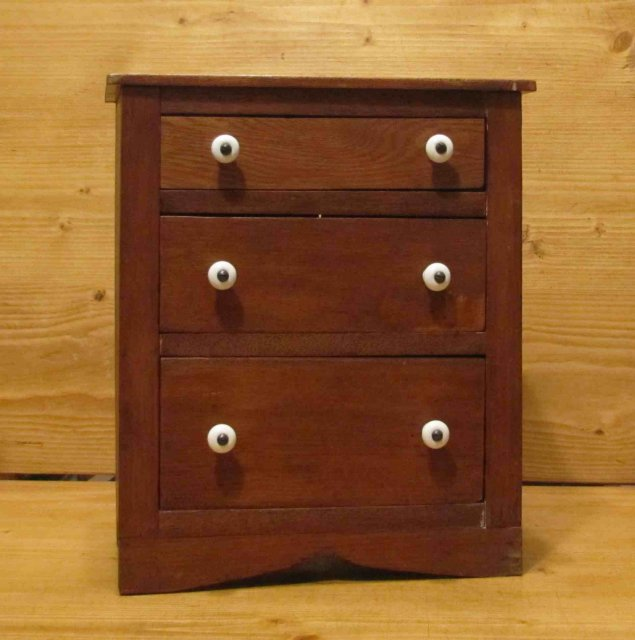 Child's Miniature Doll's Chest of Drawers