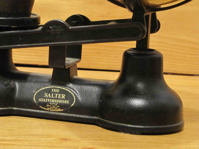 Balance Scale with Brass Pan and Weights