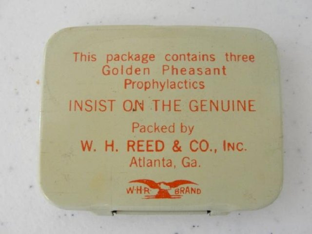 Golden Pheasant Prophylactics Boxed Tins