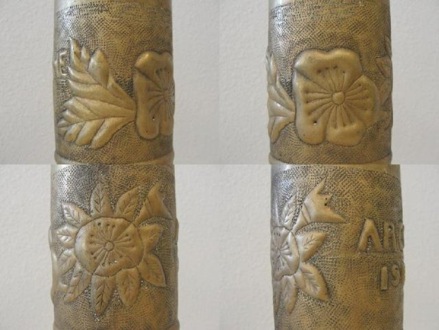 WWI Trench Art Military Shell