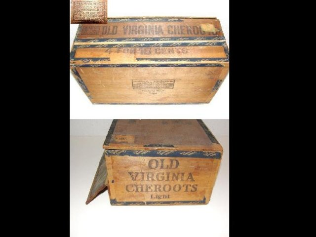 Black Americana Cigar Box