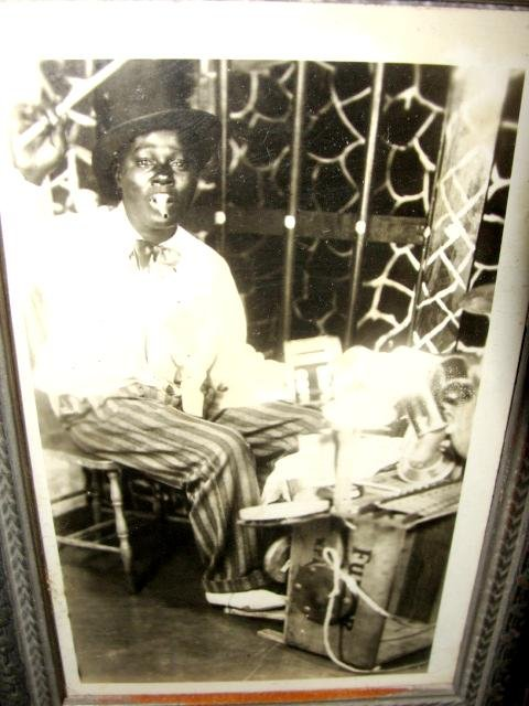 Framed Photo of Black Minstrel