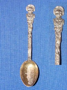 Black Americana Sterling Souvenir Spoon