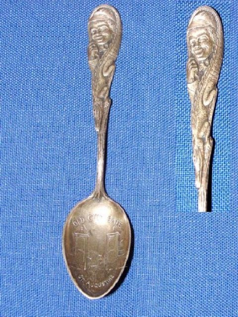 Black Americana Sterling Souvenir Spoon