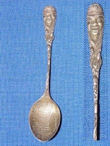 Black Americana Sterling Souvenir Spoon.