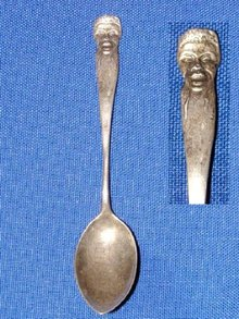 Black Americana Sterling Souvenir Spoon.