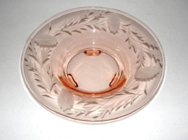Elegant Pink Glass Console Bowl