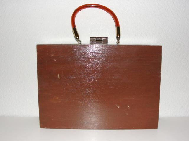 Vintage Wood Box Purse