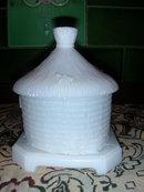 Vallerysthal Beehive Milk Glass Sugar Bowl.