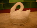 Vallerysthal Open Neck Swan Covered Dish.