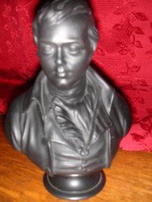 Wedgwood Robert Burns Black Basalt Bust.