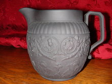 Wedgwood Lands of the Realm Black Basalt Pitcher.