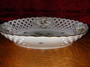 Herend Rothschild Bird Open Weave Oval Basket.