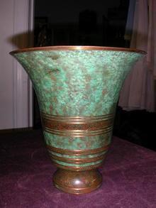 Carl Sorenson Bronze Vase.