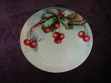 Carstens Hand Painted Cherry Plate.