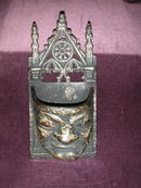 Victorian Cast Iron Match Holder.