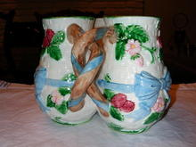 Haldon Ribbon and Bow Triple Vase.