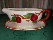 Franciscan Apple Gravy Boat and Underplate.