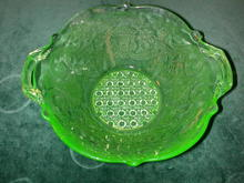 Lancaster Green Depression Glass Bowl.