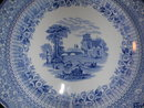 Woods & Sons Hermitage Blue and White Plate.