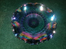 Indiana Diamond Back Amethyst Carnival Glass Hostess Plate.