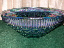 Indiana Glass Windsor Amethyst Carnival Glass Bowl.