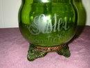 U.S. Glass Colorado Green Sugar and Creamer.