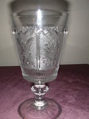 Westmoreland Princess Feather Water Goblet.
