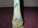 Fenton Bluebirds On Custard #9056 Bud Vase.