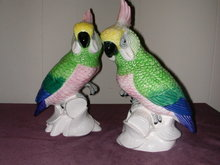 Pair of Napco Cockatoo Figurines.