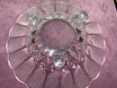 New Martinsville Canterbury Crystal 3 Footed Bowl.