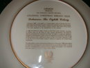 Lenox 1988 Colonial Christmas Wreath Series Limited Edition Delaware Christmas Plate.
