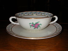 Lenox Fairmount Cream Soup Bowl and Underplate.