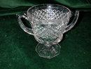 Westmoreland English Hobnail #555 Crystal Hex Footed Sugar Bowl.