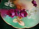 Pickard/Klingenberg Limoges Hand Painted Artist Signed Rose Plate.