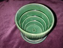 McCoy Series 19 Green Flower Pot and Saucer.