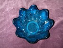 Blenko Blue Crackle Glass Bowl.