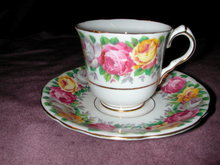 Gladstone Rosemary Demitasse Cup and Saucer.