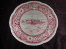 Royal Cauldon Fort Dearborn Pink Transfer Plate.