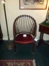 lollipop arm chair,mahogany
