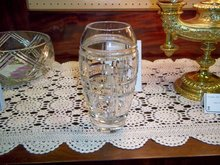 crystal vase,by Rogaska