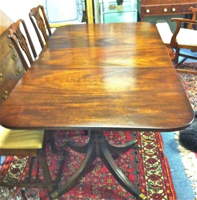 Flamed Mahogany Banquet Table