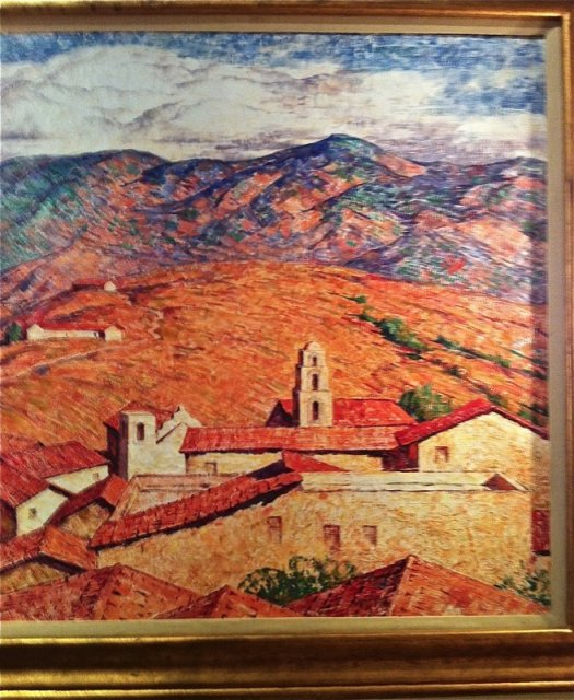 Sierra Madre Oil Painting by Dines Carlsen