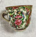 Early 19th Century China Porcelain Rose Medallion Tea Cup 1875