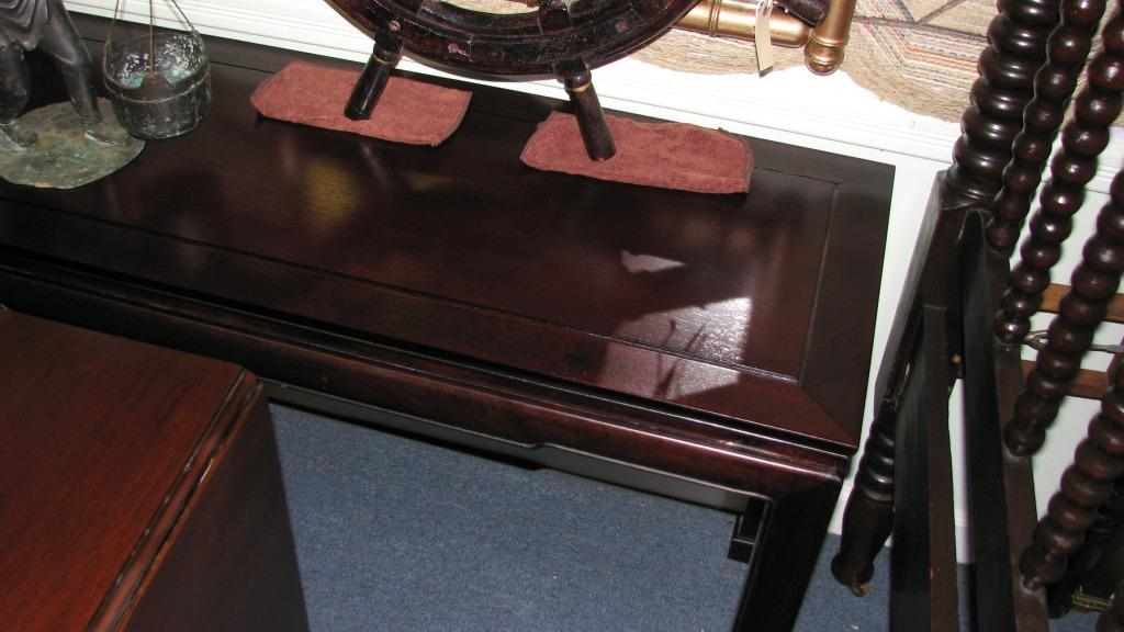Asian Mahogany Sofa/Foyer Table