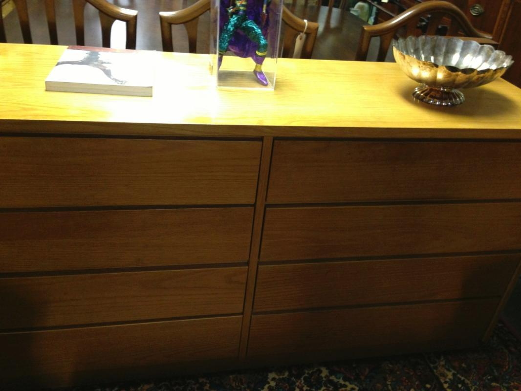 Vintage Mid-Century Modern Danish Long & Low Chest of Drawers