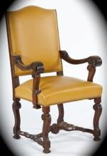 Early 20th Century Italian Style Leather Arm Chair